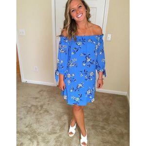 🍁MOVING SALE🍁 Blue off the shoulder dress
